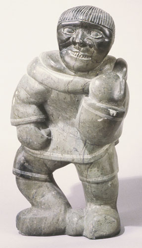 Agjangajuk Shaa, Man Carrying Bird (2007)