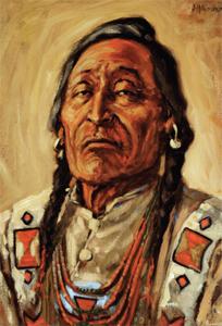 James Henderson, Gunny Crow, Blackfoot Indian, 1927